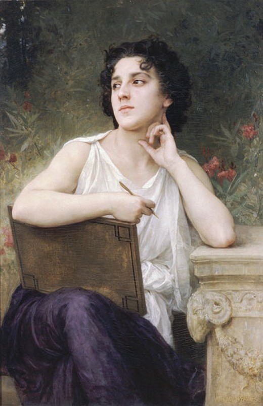 Inspiration by William-adolphe Bouguereau, 1898