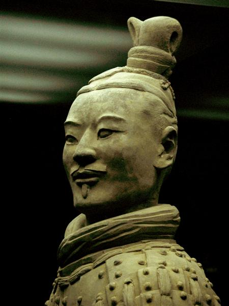 Photo of an officer of the Terracotta Army.
