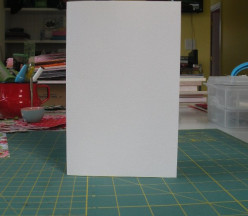 White heavy weight cardstock folded
