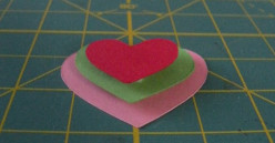 Hearts with foam squares