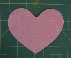 Large Heart embossed