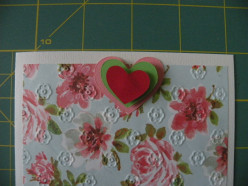Heart layer adhered to top