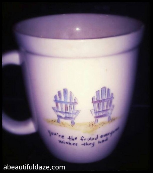 My favorite mug, which is the perfect example for this hack. See below for how dirty the inside of this ol' mug has gotten.