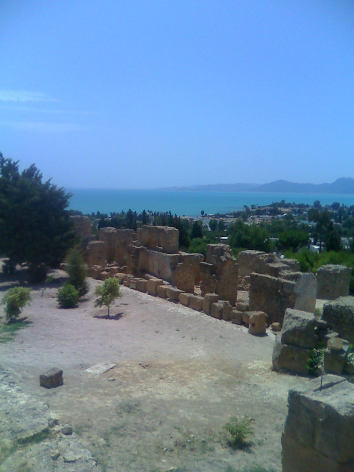 Tunisia has a rich history and there are many Roman ruins as well as the ruins of Carthage
