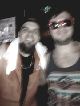 A (blurry) Bernz and I after a phenomenal !Mayday! set.