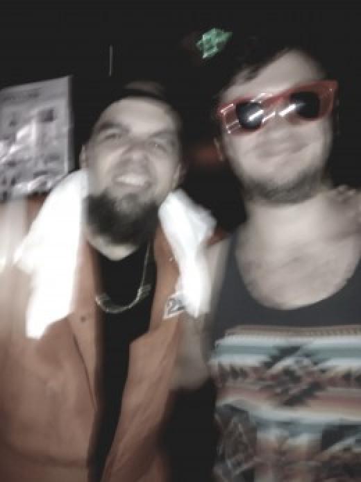 A (blurry) Bernz and I after a phenomenal !Mayday! set.