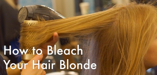 Learn how to bleach your own hair blonde at home.