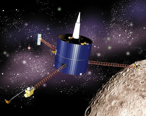 Lunar Prospector, ready to mine the moon for minerals and H3.
