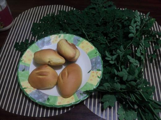 Homemade bread with malunggay