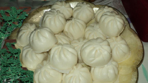 Siopao or steamed buns with malunggay