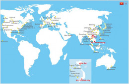 Vietnam Airlines' route map