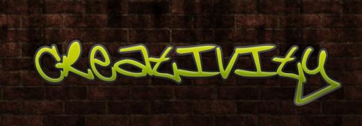 Creativity graffiti