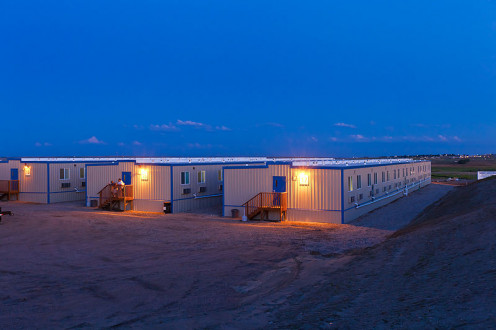 Williston, North Dakota, with about 125 beds.