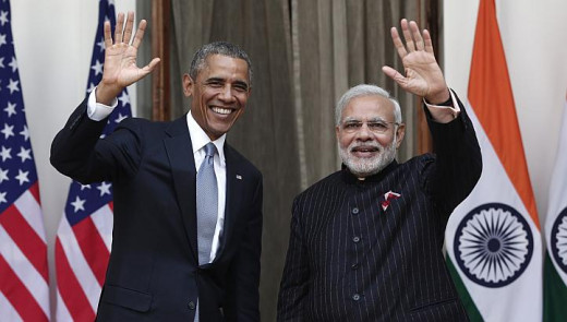 Modi and Obama at one-to-one talks