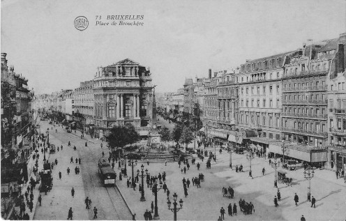 Early view of De Brouckère Square
