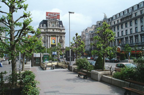 """De Brouckère"" station of the Brussels metro"