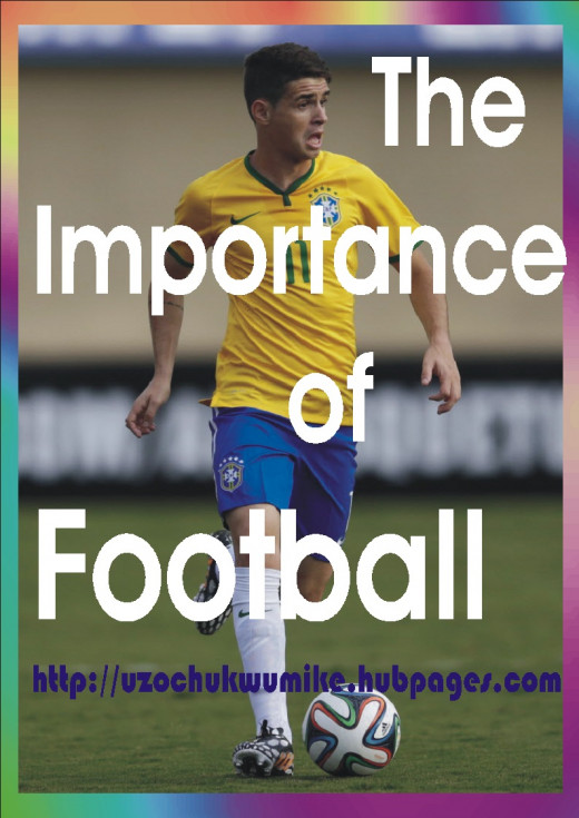The picture illustrates the importance of football. Football is of great importance to the world we are living in today.