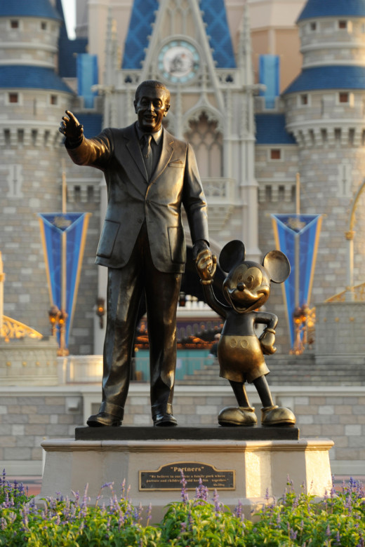 The iconic Partners statue has greeted guests at Walt Disney World since 1995... but what is Walt pointing at?