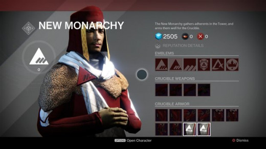 Each faction in Destiny has its own merchant, but, oops, you can't buy anything from him because your reputation with that faction isn't high enough. Give me a break.