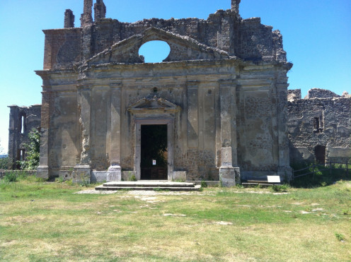 Time passes. ( Monterano church.)