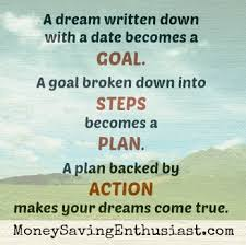 Do you have a dream? Good fortune comes your way once you create a plan  to achieve it.