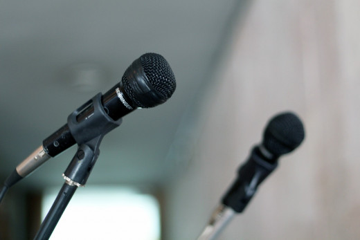 Many public figures and politicians have been caught using inappropriate language because they thought the microphone wasn't on. Always be on your best behavior when you are near a microphone, even if you think it's turned off.