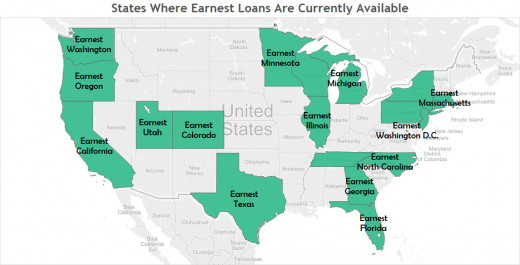 States Where Earnest Loans Are Currently Available