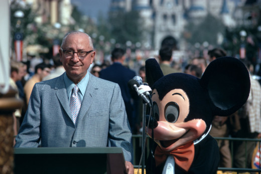 Roy dedicates the Magic Kingdom on October 25, 1971.
