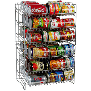 This style only holds about 20 cans, so you will need to calculate how many you will need for a 3 months' supply for your family.