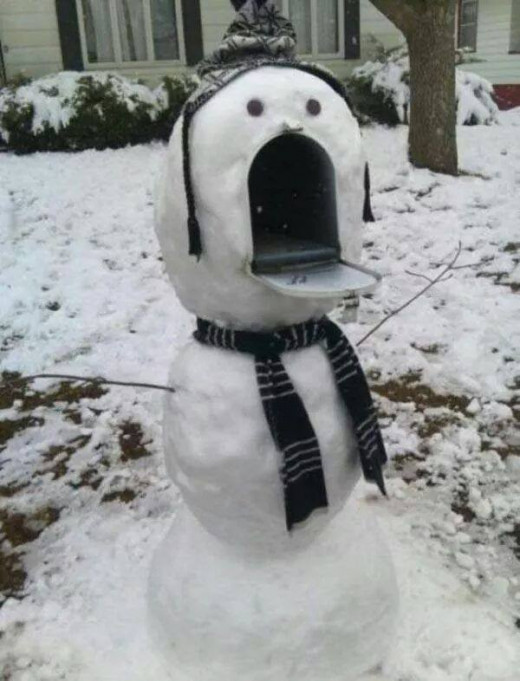 Support your local post office this winter - hug a frozen letter carrier.