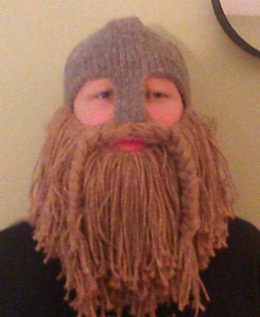 LARPing Helmet with Optional Beard