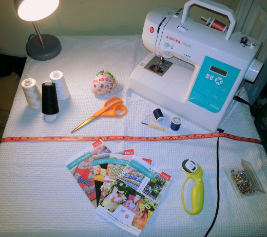 Some of my own sewing supplies.