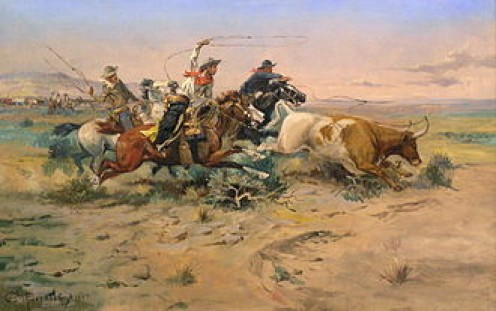 Artist, C.M. Russell's image of a typical cowboy