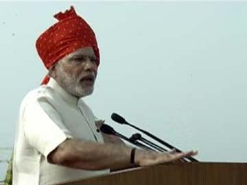 Modi and his red turban