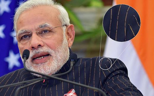 Modi's controversial suit