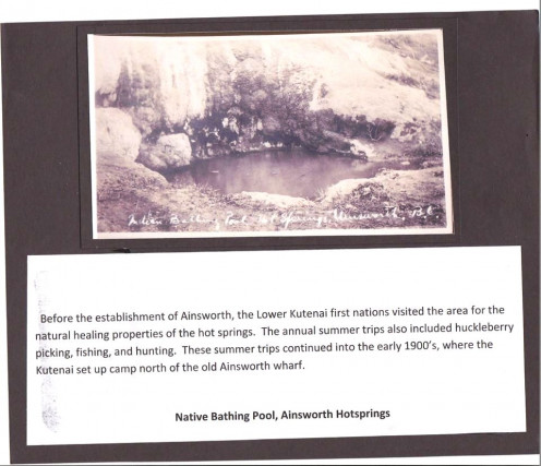 Image: original pool as the Natives and other visitors to the area would have seen it in the early days.