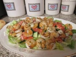 Shrimp Scampi Salad for a Valentine's Lunch