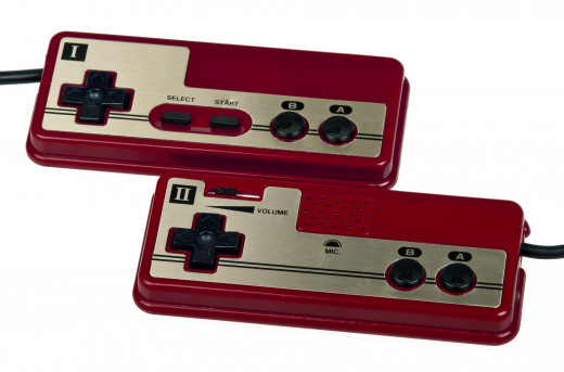 The famicon Hand controller was the first to use the directional pad (the D-pad)