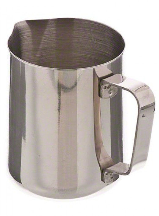 Making the perfect cappuccino or latte doesn't just involve getting the coffee brewed just right, you also need to think about the milk.  Most frothing pitchers are constructed from stainless steel, making them durable, attractive, and easy to clean.
