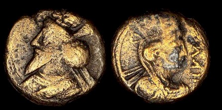 Coin of Osrow I, the Parthian Great King who opposed Trajan.