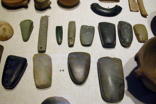 Here are some examples of beautifully made stone tools.