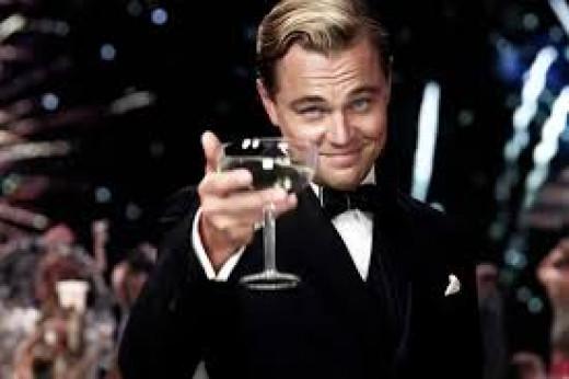 Leonardo Decaprio, as The Great Gatsby