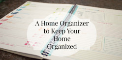 Home Organizer Notebook. Also known as a Homemaking Journal