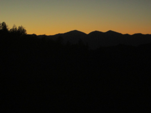 Another shot of the amazing sunset looking out towards Mount Baldy in the distance.