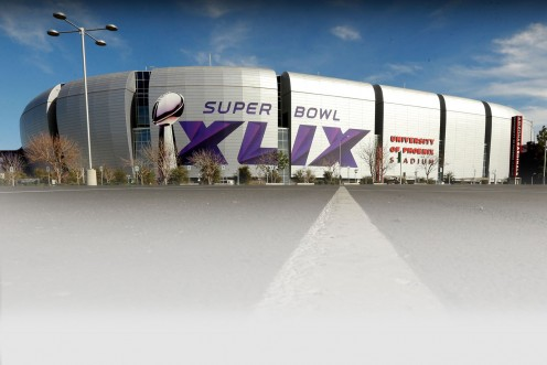 This year's Super Bowl in Tempe, Arizona.