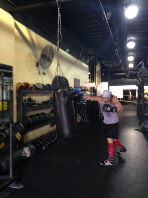 A little heavy bag work from just the other day.