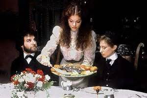 Amy Irving serves up a heaping Razzie meal to fellow nominee Worst Actor Barbra Streisand and non nominee Mandy Patinkin in 1983's Yentl