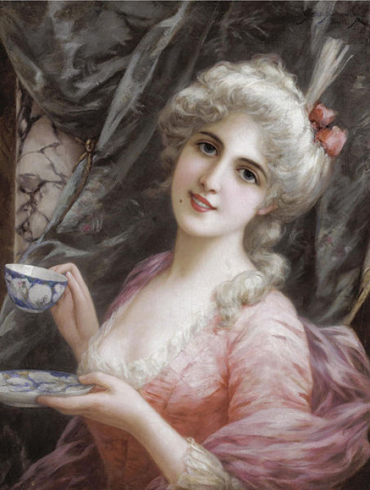 Tea-time by Emile Eisman-Semenowsky