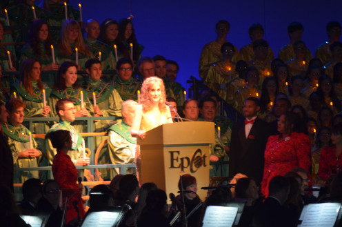 Actress Jodi Benson was among a long list of celebrity readers during the Candlelight Processional at Walt Disney World's EPCOT.