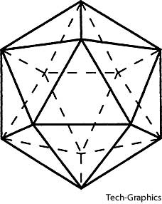 Icosahedra made up the element water.